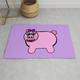 Girly Stuffed Pig Rug
