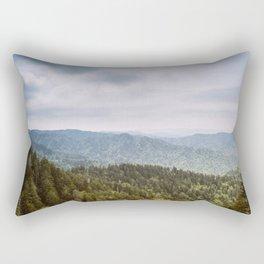 Blue Smoke Mountains Rectangular Pillow