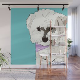 Cute poodle Wall Mural