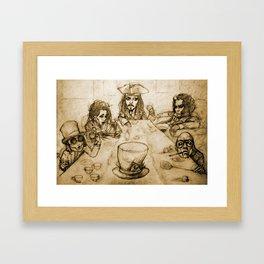 A Mad Tea Party Framed Art Print