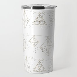 Modern Geo Holiday Ornaments Travel Mug