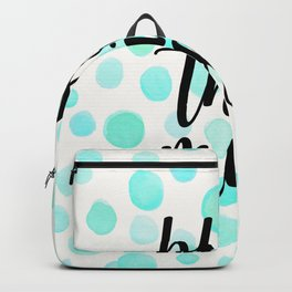 Bless this mess blue Backpack
