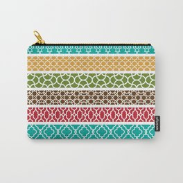 Moroccan Stripe Pattern Carry-All Pouch