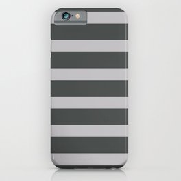 Silver Stripes on Black Background iPhone Case