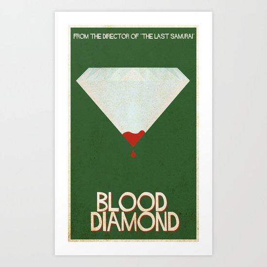 Blood Diamond Art Print