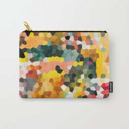 Feel Good Colors, A Warm Abstract Mosaic Carry-All Pouch