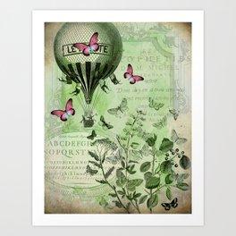 Butterfly Balloon Art Print