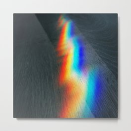 Rainbow lightning Metal Print