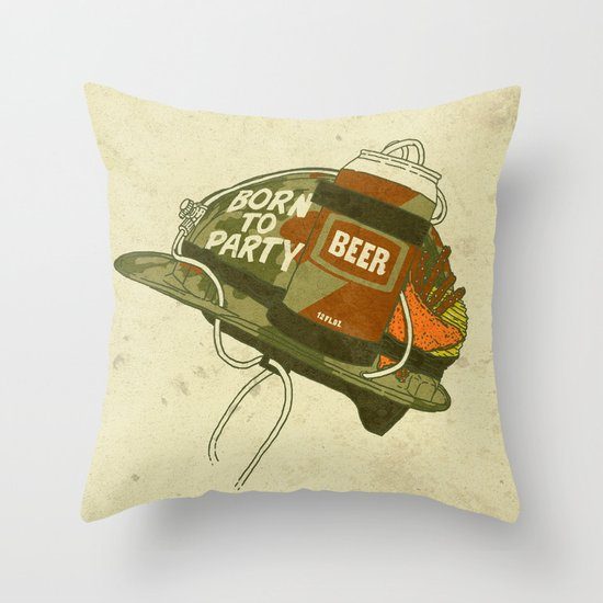 Born to party Throw Pillow