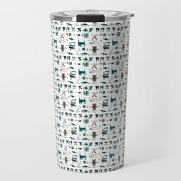 Evolved Futuristic Cult Symbols Travel Mug