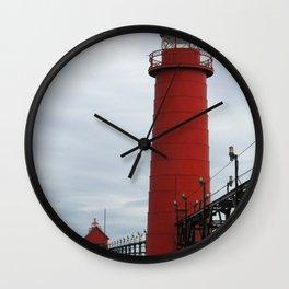 Grand Haven Lights Wall Clock