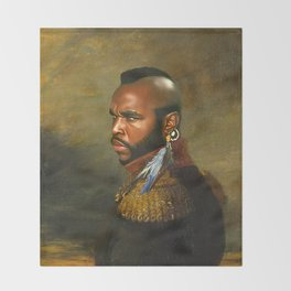 Mr. T - replaceface Throw Blanket