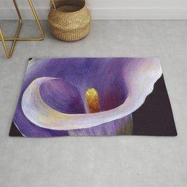 Lavender Calla Lily Rug