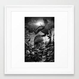 XIII. Death & Rebirth Tarot Card Illustration Framed Art Print