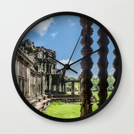 Angkor Wat, Cambodia, Window of the Outer Wall Wall Clock