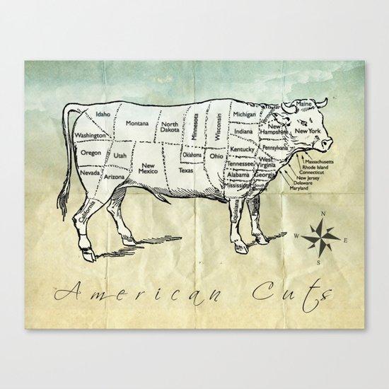 American Cuts Canvas Print