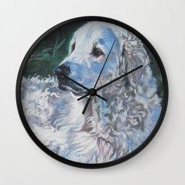 Hungarian Kuvasz dog art from an original painting by L.A.Shepard Wall Clock