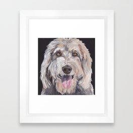 Golden Doodle Art,  Labradoodle art, Doodle dog art Framed Art Print