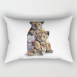 Lion Cubs Rectangular Pillow