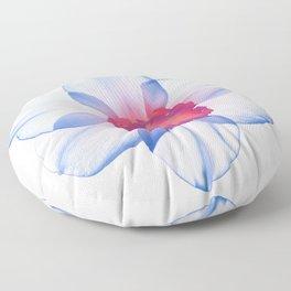 narcissus poeticus (feeling blue) Floor Pillow