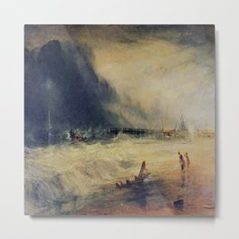 Joseph Mallord William Turner's Lifeboat and Manby Apparatus Going Off to a Stranded Vessel Metal Print