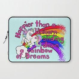 Happy Unicorn Laptop Sleeve