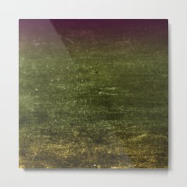 Gold, Emerald & Magenta Ombre Canvas Metal Print