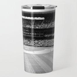 Safeco Field in Seattle Washington - Mariners baseball stadium in black and white Travel Mug
