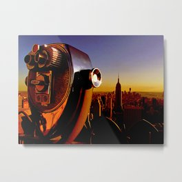 Skyline of New York City with the Empire State Building Metal Print