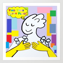ASL Find Your Happy Place Art Print