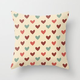 Christmas love candy Throw Pillow