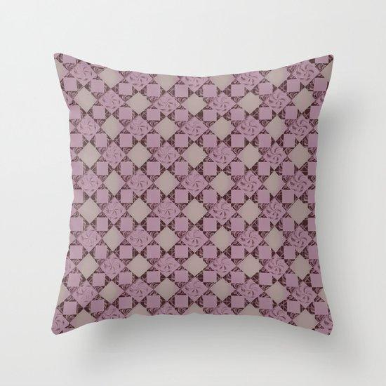 pattern (pale pink#2) Throw Pillow