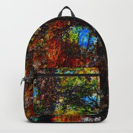 Colourful Abstract painting. Backpack
