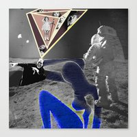 walk the moon Canvas Prints featuring Moon Walk by AF Knott