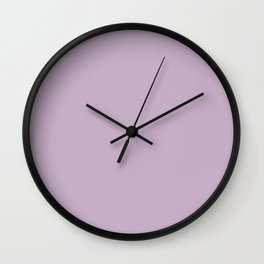 WISTERIA PURPLE pastel solid color Wall Clock