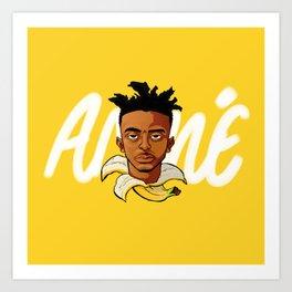 Yellow Banana Art Print
