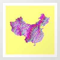 china Art Prints featuring China by mthbt