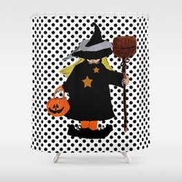 My Little Witch, Halloween Costume Shower Curtain
