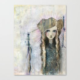 Gesso Geisha by Jane Davenport Canvas Print