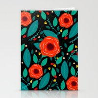 leah flores Stationery Cards featuring Flores by Ary Marín