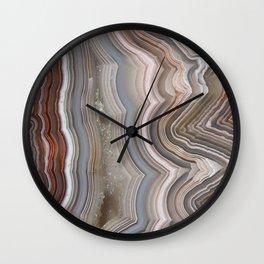 Striped Agate Crystal Wall Clock