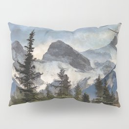 The Three Sisters - Canadian Rocky Mountains Pillow Sham