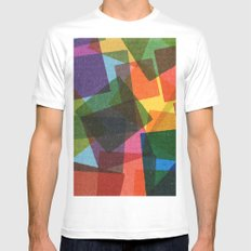 Square Miles. Mens Fitted Tee White MEDIUM