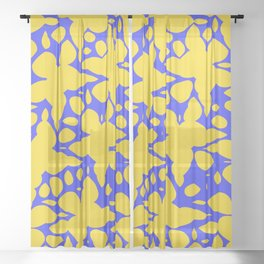 Asymmetry collection: abstract flowers in the water Sheer Curtain