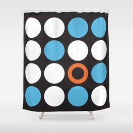 Modern Abstract Dots Shower Curtain
