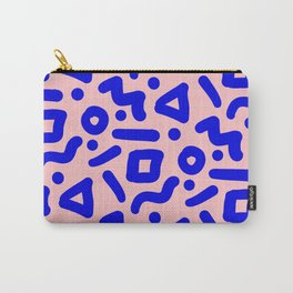 Doodle Pattern - Pink and Electric Blue Carry-All Pouch