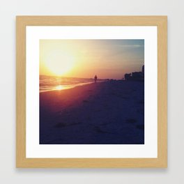 Lonely man Framed Art Print