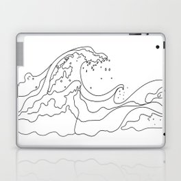Minimal Line Art Ocean Waves Laptop & iPad Skin
