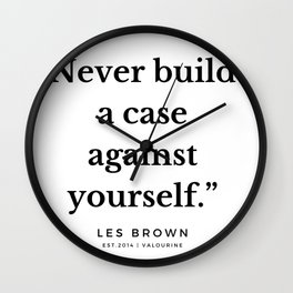 34  |  Les Brown  Quotes | 190824 Wall Clock
