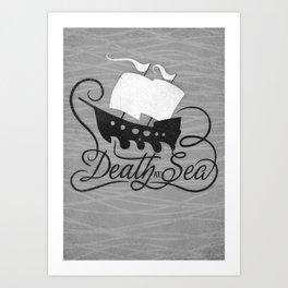 DEATH AT SEA Art Print
